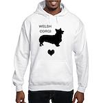 welsh corgi heart Hooded Sweatshirt