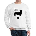 welsh corgi heart Sweatshirt