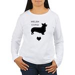 welsh corgi heart Women's Long Sleeve T-Shirt