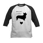 welsh corgi heart Kids Baseball Jersey