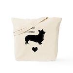 welsh corgi heart Tote Bag