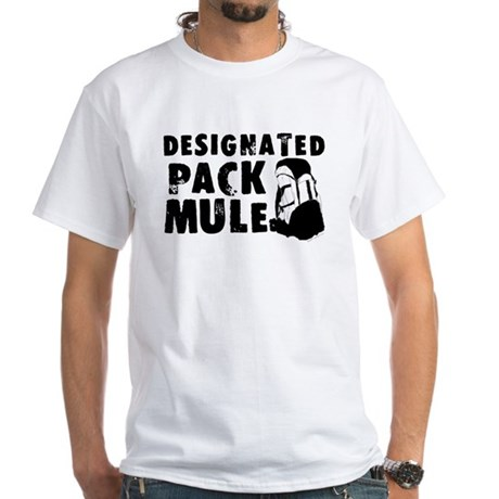Designated Pack Mule White T-Shirt