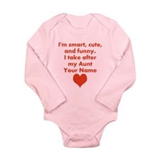 Smart Cute And Funny Aunt (Custom) Body Suit