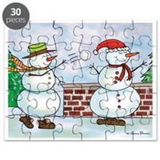 Snowman Snow Ball Fight Puzzle