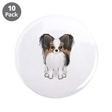 "Papillon (pic) 3.5"" Button (10 pack)"