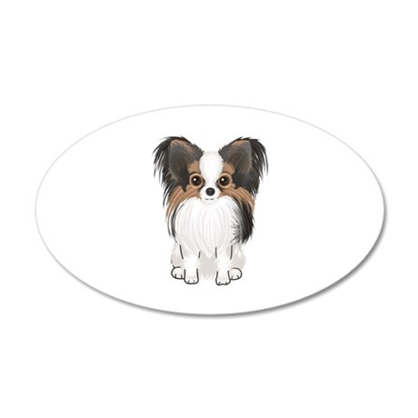 Papillon (pic) 20x12 Oval Wall Decal