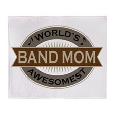 Awesome Band Mom Throw Blanket