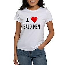 I Love Bald Men Ash Grey T-Shirt
