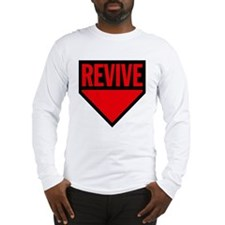 revive-red-rev-outline2 Long Sleeve T-Shirt