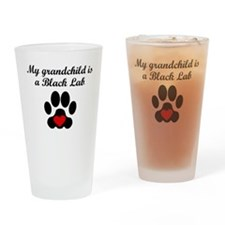 Black Lab Grandchild Drinking Glass