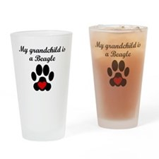 Beagle Grandchild Drinking Glass