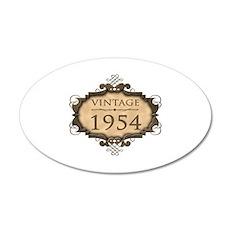 1954 Birth Year (Rustic) 35x21 Oval Wall Decal