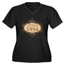 1954 Birth Year (Rustic) Women's Plus Size V-Neck
