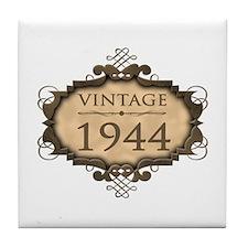 1944 Birth Year (Rustic) Tile Coaster