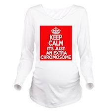 Stay Calm Chromosome Long Sleeve Maternity T-Shirt