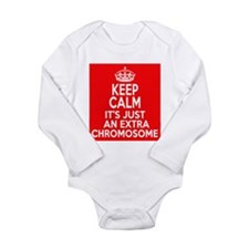 Stay Calm Chromosome Long Sleeve Infant Bodysuit