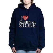 I Heart Robin & Stone Woman's Hooded Sweatshirt