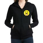 Smiley Face - Tongue Out Women's Zip Hoodie