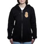 Hand - Stop Sign Women's Zip Hoodie