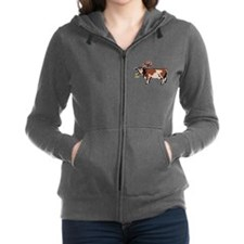 Brown Chicken Brown Cow Women's Zip Hoodie