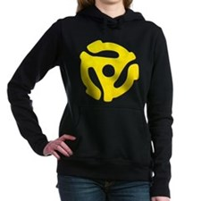 Yellow 45 RPM Adapter Woman's Hooded Sweatshirt