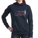 Red Executive Chef Woman's Hooded Sweatshirt