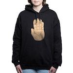 Hand - Stop Sign Woman's Hooded Sweatshirt