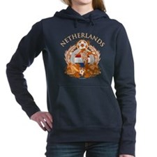 Netherlands Soccer Woman's Hooded Sweatshirt