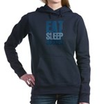 EAT SLEEP SOCCER Woman's Hooded Sweatshirt