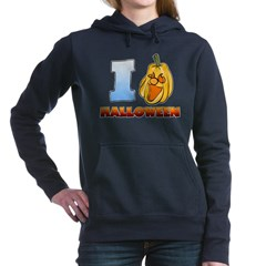 I Love Halloween Woman's Hooded Sweatshirt
