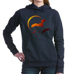 Flying Vampire Bats Woman's Hooded Sweatshirt