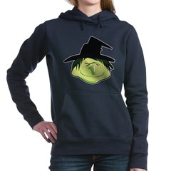 Happy Green Witch Woman's Hooded Sweatshirt