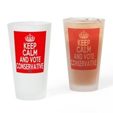 Keep Calm Conservative Drinking Glass