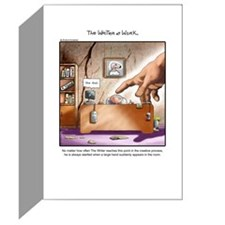 The Writer At Work Greeting Card