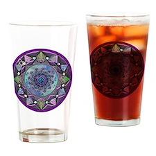 Celtic Fractal Mandala Drinking Glass