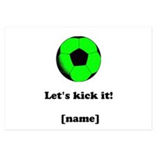 Personalized Lets kick it! - GREEN Invitations