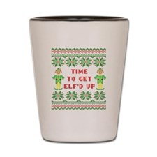 Ugly Christmas Sweater Time To Get Elfd Shot Glass