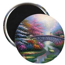 THOMAS KINKADE OIL PAINTING ON CANVAS Magnets