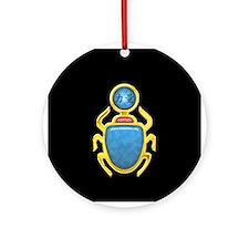 Blue Topaz Scarab Ornament (Round)