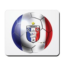 French Soccer Ball Mousepad