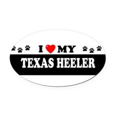 Cute I heart texas Oval Car Magnet