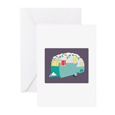 Christmas Camper Greeting Cards