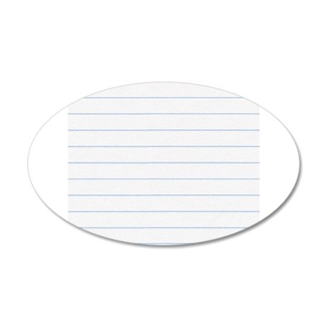 Notebook Paper Lined Wall Decal