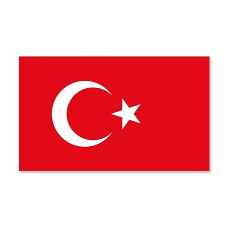 Turkey Flag 20X12 Wall Decal