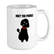 obey_poodle_black2.bmp Mugs