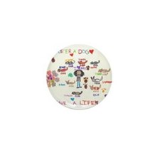 Foster Drawing.jpg Mini Button (10 pack)