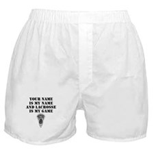 Lacrosse Is My Game (Custom) Boxer Shorts