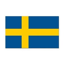 Sweden Flag Rectangle Car Magnet