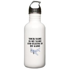 Flying Is My Game (Custom) Water Bottle