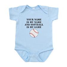 Softball Is My Game (Custom) Body Suit